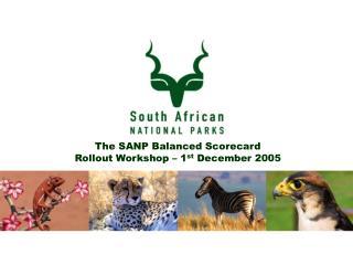 The SANP Balanced Scorecard Rollout Workshop – 1 st  December 2005