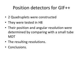 Position detectors for GIF++