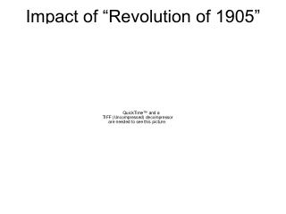 Impact of �Revolution of 1905�