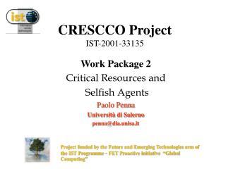 CRESCCO Project IST-2001-33135