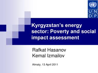 Kyrgyzstan's energy sector: Poverty and social impact assessment