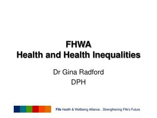 FHWA Health and Health Inequalities