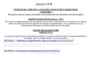 Articles CCH
