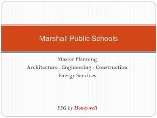 City of marshall, Minnesota Marshall Public Schools