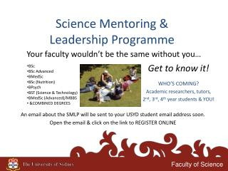 Science Mentoring & Leadership Programme