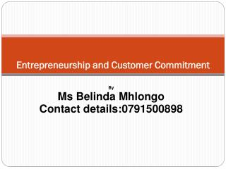 Entrepreneurship and Customer Commitment
