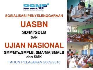 SOSIALISASI PENYELENGGARAAN UASBN SD/MI/SDLB DAN UJIAN NASIONAL