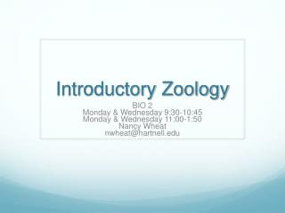 Introductory Zoology