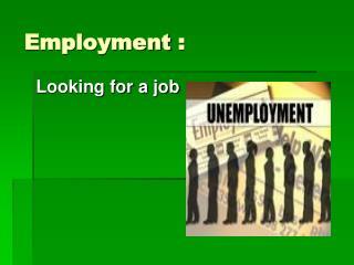 Employment  :