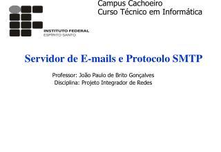 Servidor de E-mails e Protocolo SMTP
