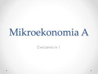 Mikroekonomia  A