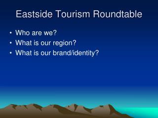 Eastside Tourism Roundtable