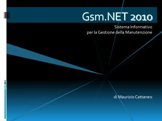 Gsm.NET 2010