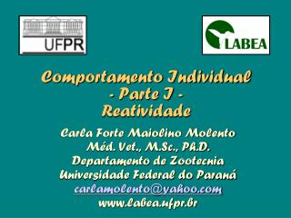 Comportamento Individual - Parte I - Reatividade
