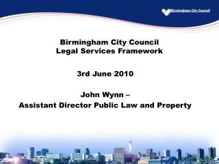 Birmingham City Council Legal Services Framework