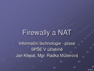 Firewally a NAT