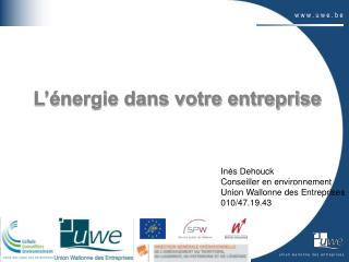 L'énergie dans votre entreprise