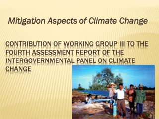 Mitigation Aspects of Climate Change