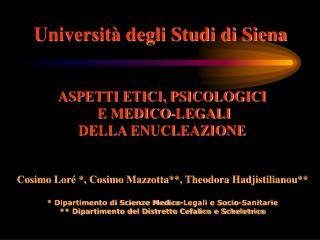 Universit  degli Studi di Siena