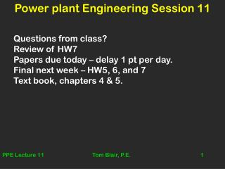 Power plant Engineering Session 11
