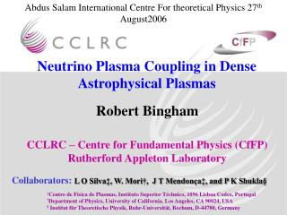 Neutrino Plasma Coupling in Dense Astrophysical Plasmas