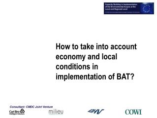 How to take into account economy and local conditions in implementation of BAT?