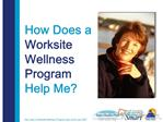 What is a Worksite Wellness Program
