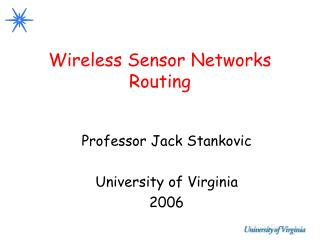 Wireless Sensor Networks Routing