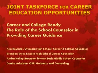 Joint Taskforce  for  Career Education Opportunities
