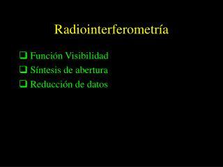 Radiointerferometría
