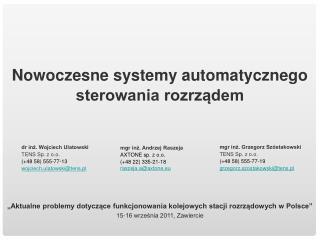"""""""Aktualne problemy dotyczące funkcjonowania kolejowych stacji rozrządowych w Polsce"""""""
