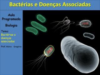 Aula Programada Biologia Tema: Bactérias e doenças associadas Prof.  Mário    Gregório