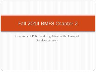 Fall 2014 BMFS Chapter 2