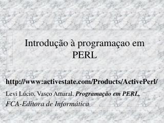 Introdução à programaçao em PERL