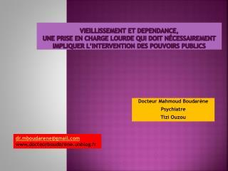 Docteur Mahmoud  Boudarène Psychiatre Tizi Ouzou