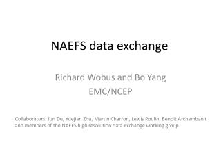 NAEFS data exchange