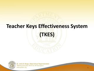 Teacher Keys Effectiveness  System (TKES)