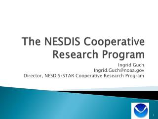 The NESDIS Cooperative Research Program