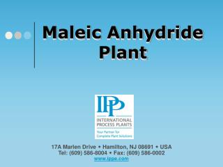 Maleic Anhydride Plant