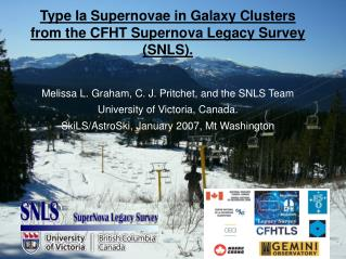 Type Ia Supernovae in Galaxy Clusters from the CFHT Supernova Legacy Survey (SNLS).