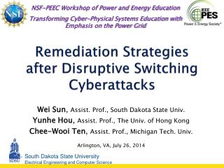 Remediation Strategies after Disruptive Switching  Cyberattacks