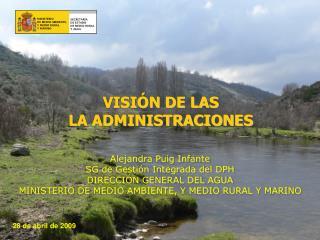 Alejandra Puig Infante SG de Gestión Integrada del DPH DIRECCIÓN GENERAL DEL AGUA