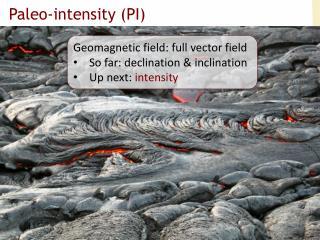 Paleo-intensity (PI)