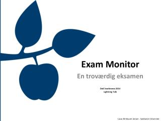 Exam Monitor