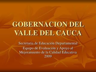 GOBERNACION DEL VALLE DEL CAUCA