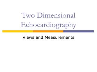 Two Dimensional Echocardiography