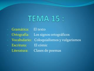 TEMA 15 :