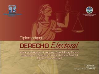 M�DULO I Derecho Electoral DOCENTES Lic.  Donaldo Wosbely Sandoval Amado