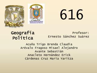 Acuña Trigo Brenda Claudia Arévalo Fragoso Misael Alejandro Avante Sebastián