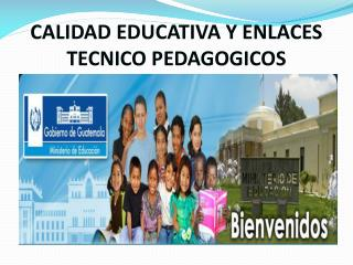 CALIDAD EDUCATIVA Y ENLACES TECNICO PEDAGOGICOS